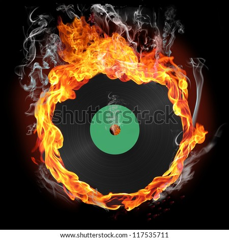 record of fire - stock photo
