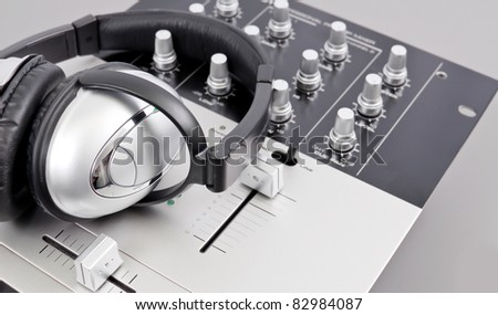 Recording in Studio - stock photo