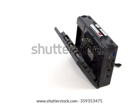 Recording pocket recorder. Isolated on white background. - stock photo