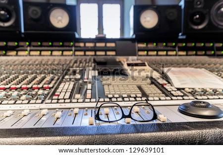 Recording studio inside - stock photo