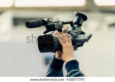 Recording with tv camera