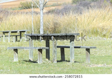 Recreation area where we can spend an amazing day at nature - stock photo