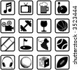 Recreation Icons and Symbols - stock photo