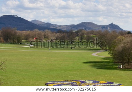 recreation park in bonn, germany - stock photo