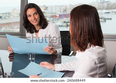 recruiter hiring - stock photo