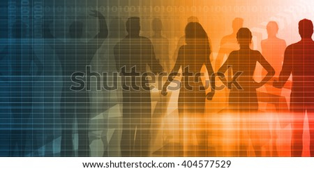 Recruitment Agency and Process as a Business Concept - stock photo