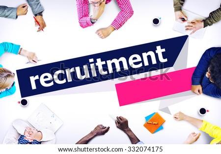 Recruitment Hiring Career Human Resources Concept - stock photo
