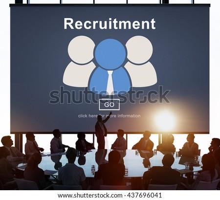 Recruitment Hiring Employment Human Resources Concept - stock photo