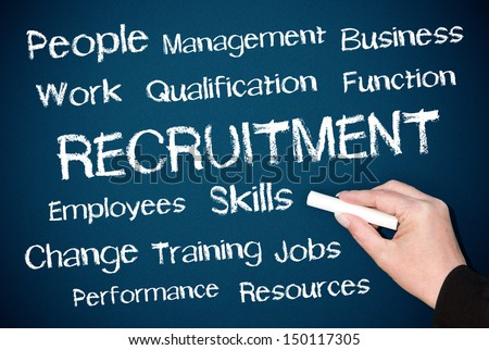 Recruitment - Human Resources - stock photo