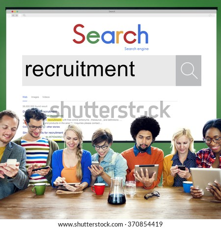 Recruitment Human Resources Hiring Employment Concept - stock photo