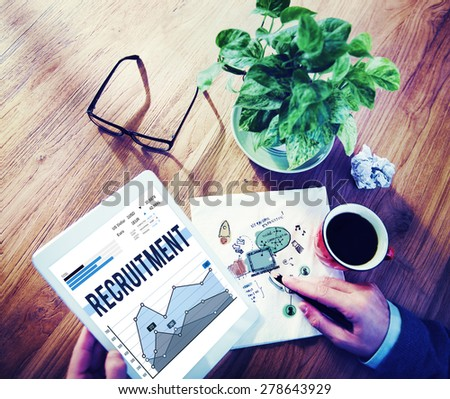 Recruitment Human Resources Job Occupation Concept - stock photo