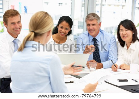 Recruitment office meeting