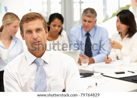 Recruitment office meeting - stock photo