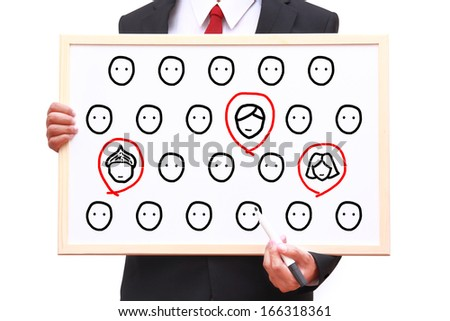 recruitment person for work - stock photo