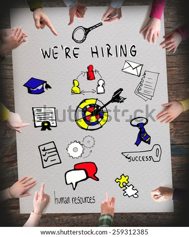 Recruitment, We are Hiring, Human Resources - stock photo
