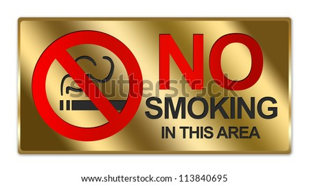 Rectangle Gold Metallic Style Plate For Do Not Use Elevator In Case Of Fire Use Stairway For Exit Sign Isolated on White Background - stock photo