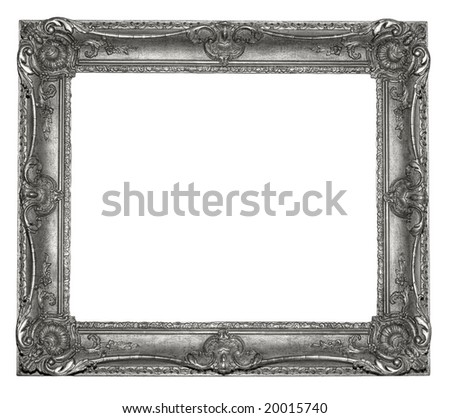 rectangle old style frame - stock photo