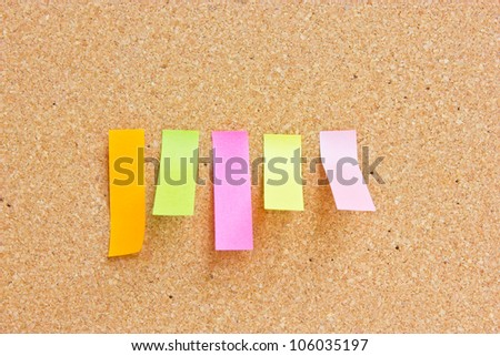 Rectangle reminder notes sticking
