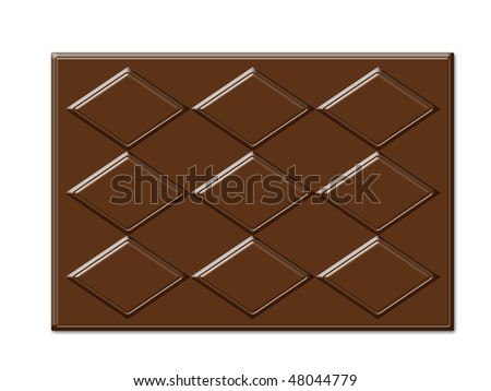 rectangle shape chocolate textures frame with digital work