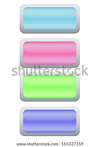 rectangles plastic buttons