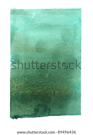 Rectangular watercolor background - stock photo