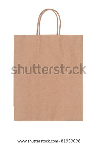 Recyclable paper bag - stock photo
