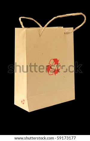 Recycle bag - stock photo