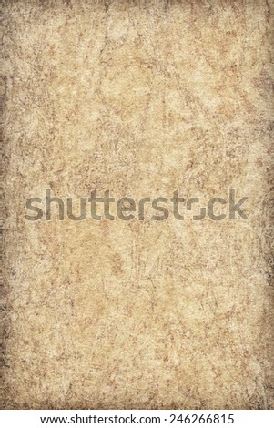 Recycle Beige Paper Bleached Mottled Coarse Vignette Grunge Text