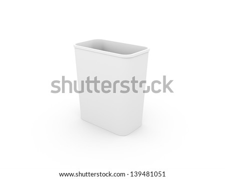 Recycle bin black and white - stock photo