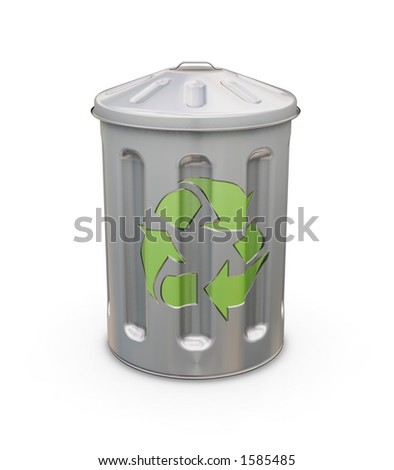 Recycle bin - 3D render
