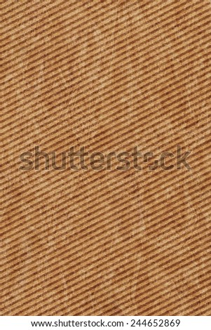 Recycle Brown Corrugated Cardboard, coarse grain, bleached, mottled, grunge texture sample.
