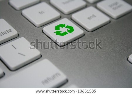 Recycle button - stock photo