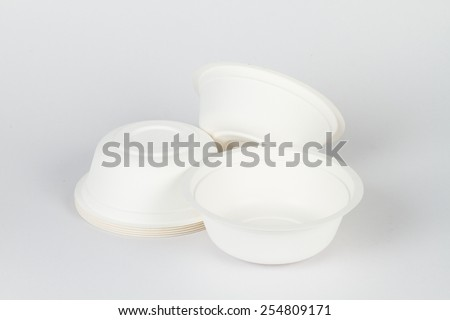recycle cup with white background / recycle cup / save the world - stock photo