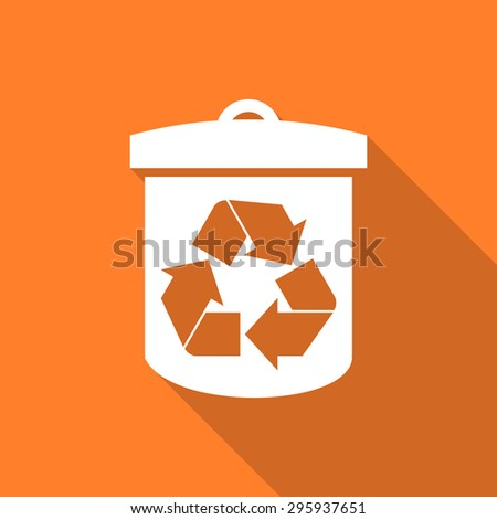 recycle flat design modern icon with long shadow for web and mobile app  - stock photo