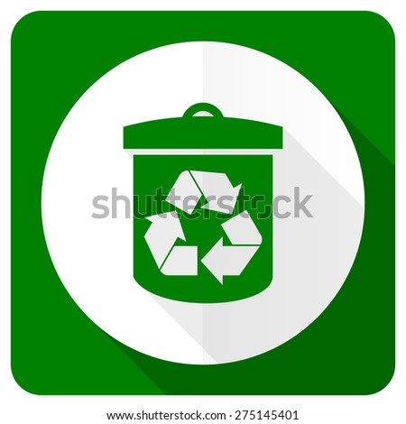 recycle flat icon recycling sign  - stock photo