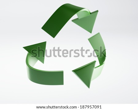 Recycle icon 3d