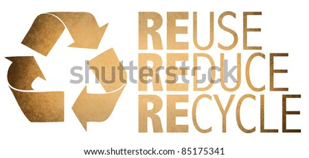 Recycle Logo From Recycle Paper - stock photo