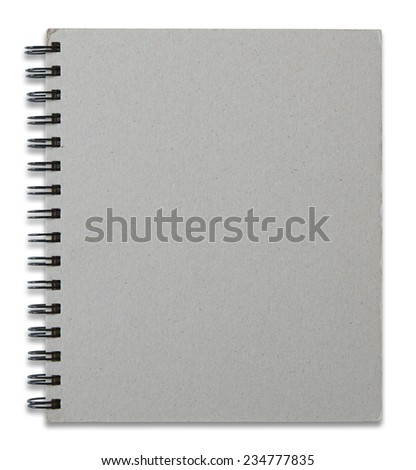 recycle notebook cover isolated on white background