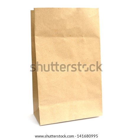 Recycle paper bag - stock photo