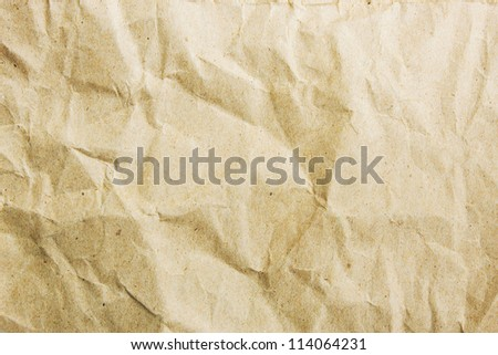 Recycle Paper Crumpled Style Background - stock photo
