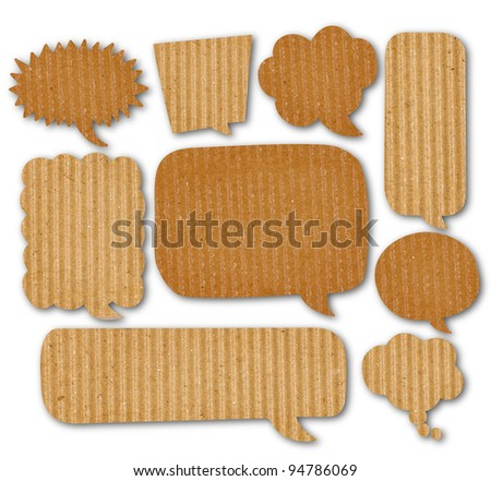 recycle paper in bubble speech shape - stock photo