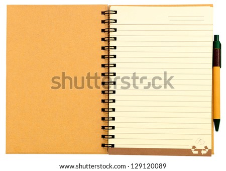 Recycle Paper Notebook - stock photo