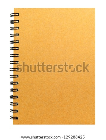 recycle paper notebook
