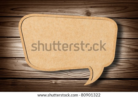 Recycle Paper on Wood Texture Background - stock photo