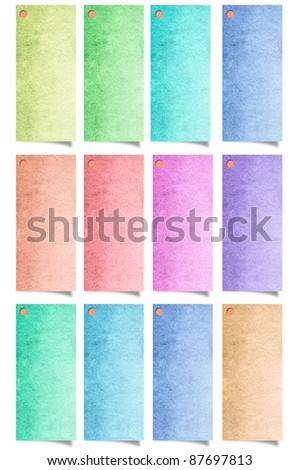 recycle paper stick isolated on white background - stock photo