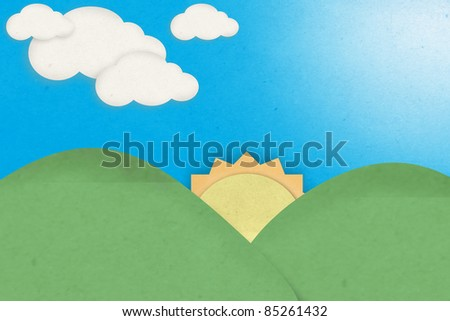 recycle paper, summer view - stock photo