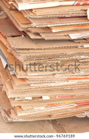recycle papers from boxes - stock photo