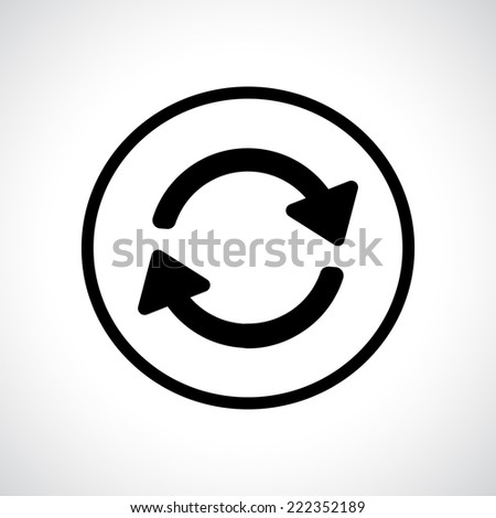 Recycle. Preloader. Black flat icon with shadow. Vector version is also available in the portfolio. - stock photo