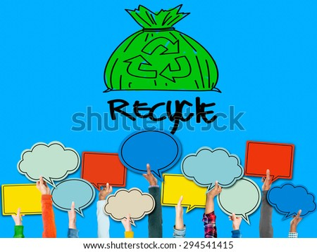Recycle Reuse Eco Friendly Green Business Concept - stock photo