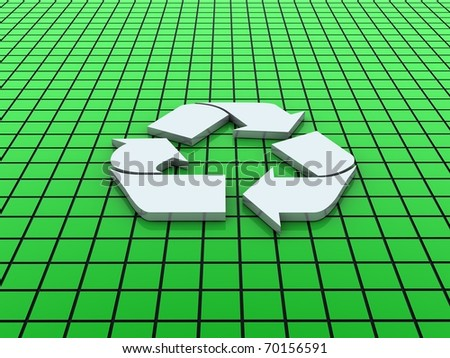 recycle sign - stock photo